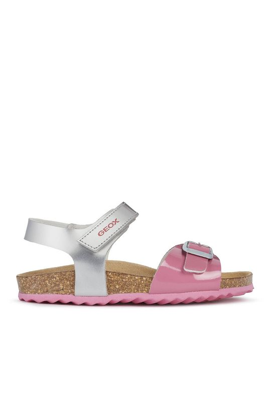 srebrny Geox - Sandały dziecięce Dziewczęcy