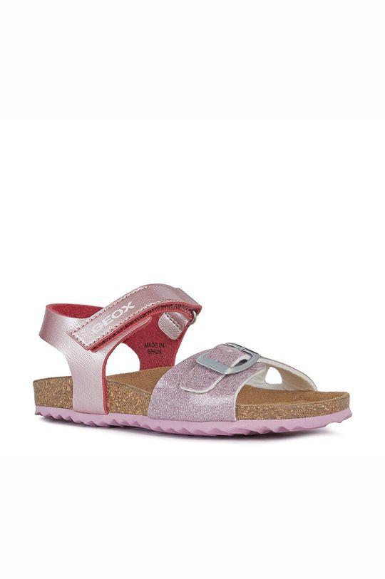 Geox - Dětské sandály pastelově růžová