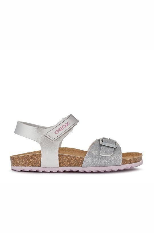 strieborná Geox - Detské sandále Dievčenský