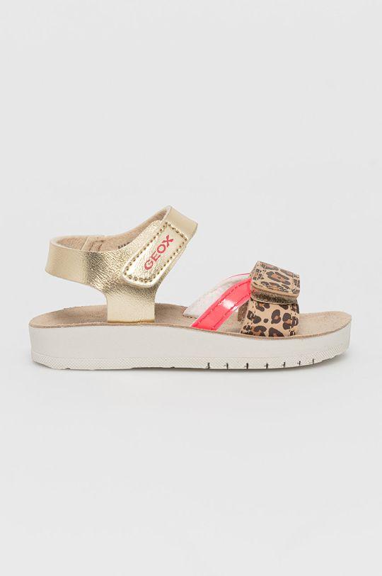 zlatá Geox - Dětské sandály Dívčí