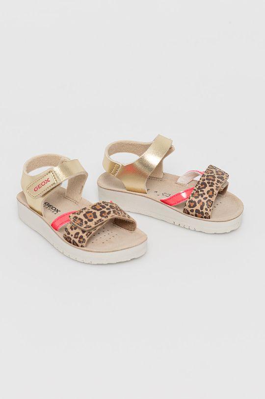 Geox - Dětské sandály zlatá