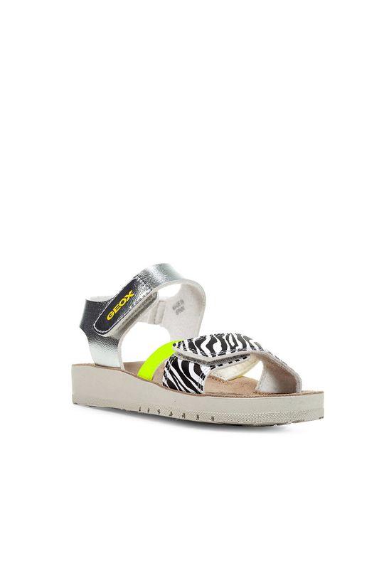 Geox - Sandały dziecięce srebrny