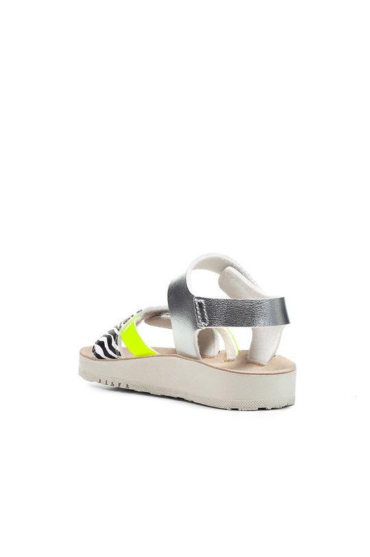 srebrny Geox - Sandały dziecięce