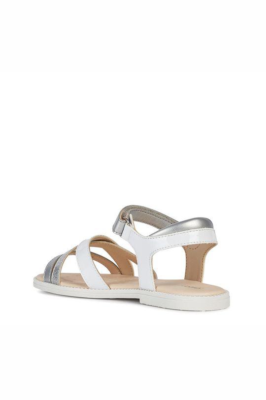 bílá Geox - Dětské kožené sandály