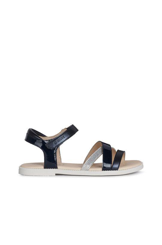 námořnická modř Geox - Dětské kožené sandály Dívčí