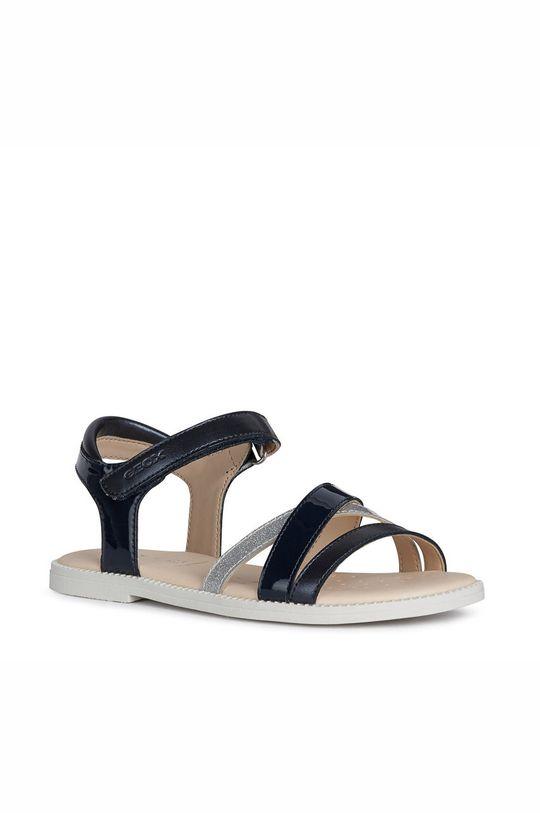 Geox - Dětské kožené sandály námořnická modř