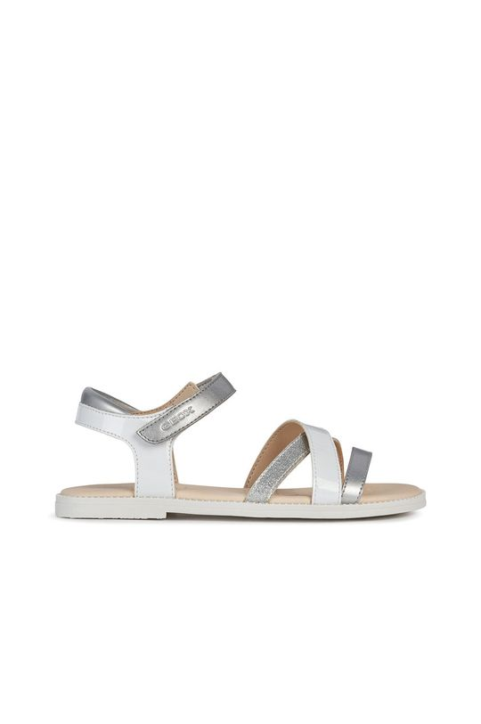 bílá Geox - Dětské kožené sandály Dívčí