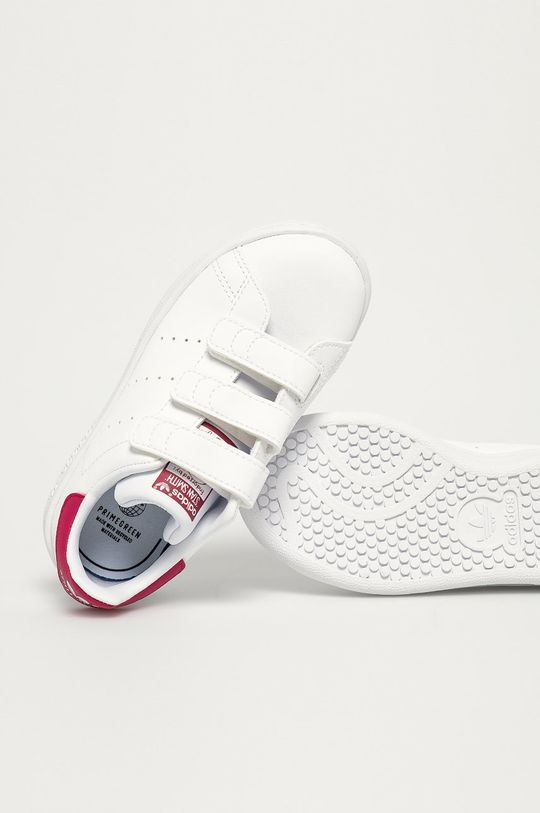 bílá adidas Originals - Dětské boty Stan Smith CF C