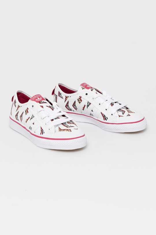 adidas Originals - Tenisówki dziecięce NIZZA J biały