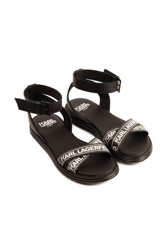 czarny Karl Lagerfeld - Sandały dziecięce Dziewczęcy