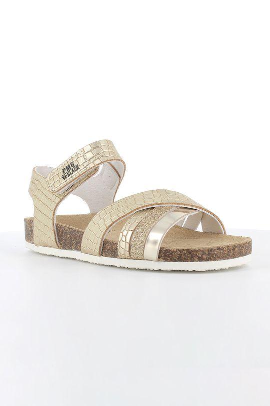 Primigi - Sandały skórzane dziecięce złoty