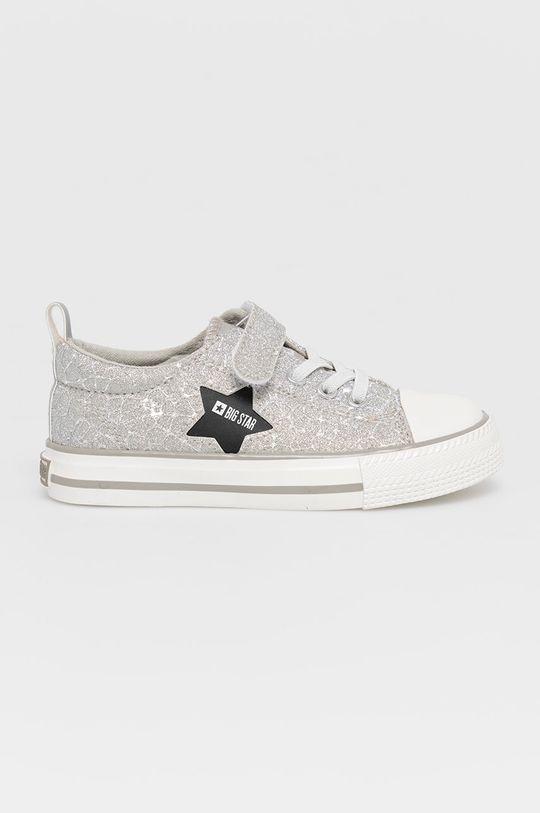srebrny Big Star - Tenisówki dziecięce Dziewczęcy