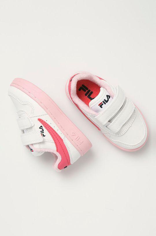 biały Fila - Buty dziecięce Arcade Velcro