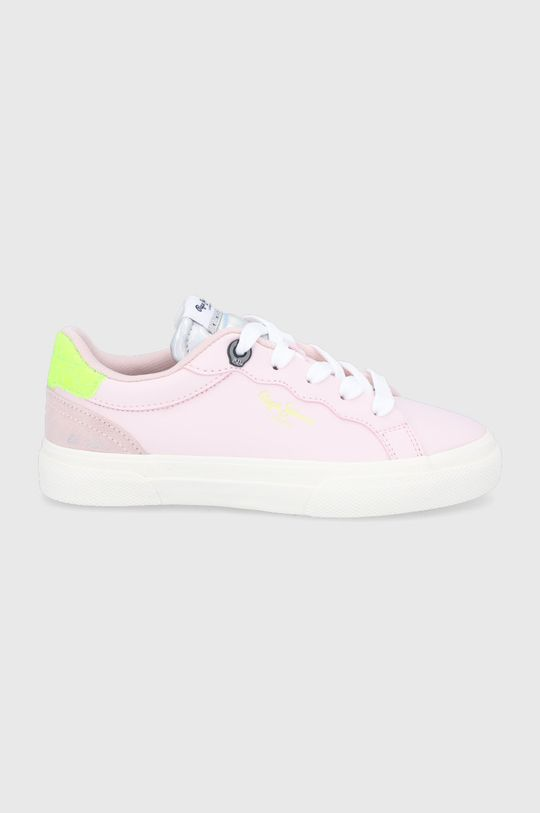 ružovofialová Pepe Jeans - Detské topánky Keton Dievčenský