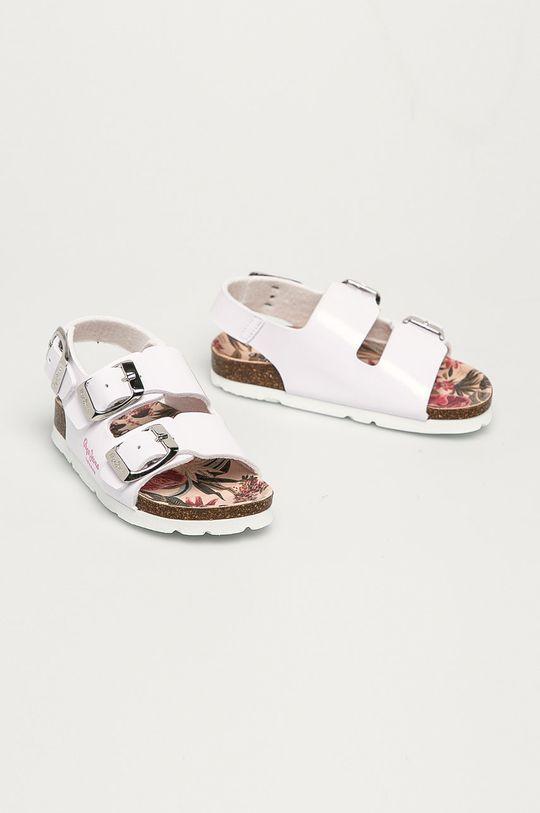 Pepe Jeans - Dětské sandály Bio Basic Buckles bílá