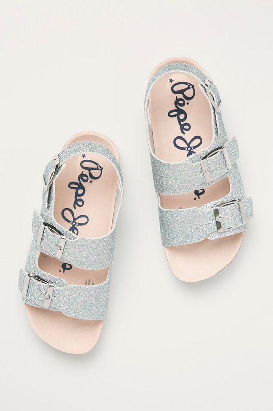 stříbrná Pepe Jeans - Dětské sandály Bio Basic