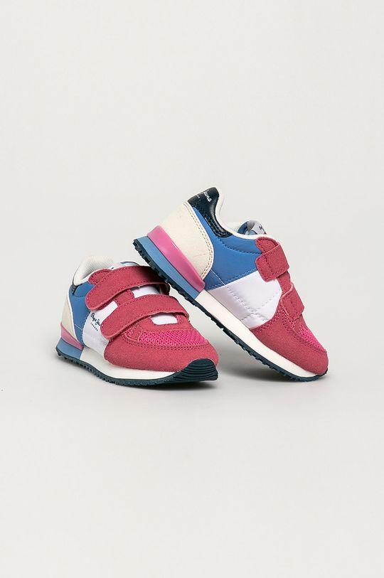 Pepe Jeans - Detské topánky Sydney bledofialový
