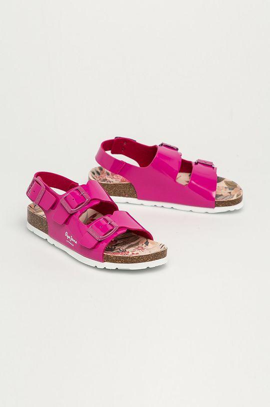 Pepe Jeans - Dětské sandály Bio Basic orchidejová