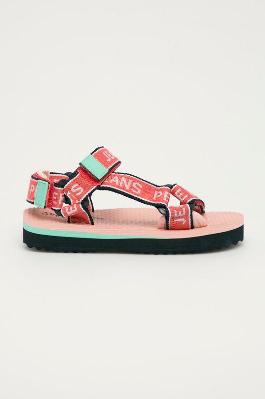 korálová Pepe Jeans - Dětské sandály Pool Tape Girl Dívčí
