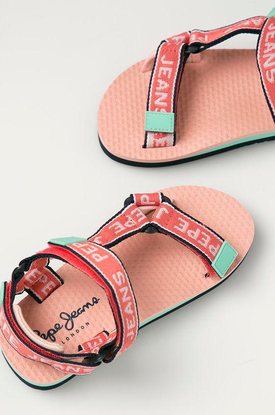 korálová Pepe Jeans - Dětské sandály Pool Tape Girl