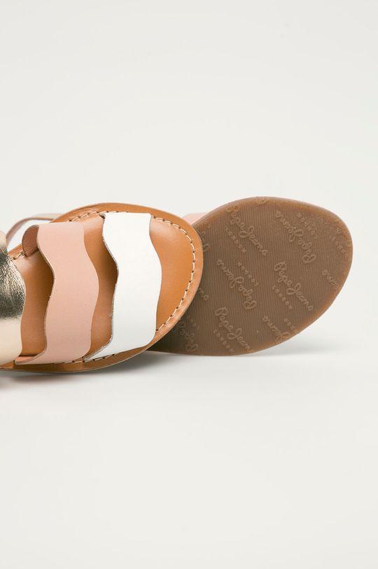 Pepe Jeans - Dětské kožené sandály Mandy 3 Waves Dívčí