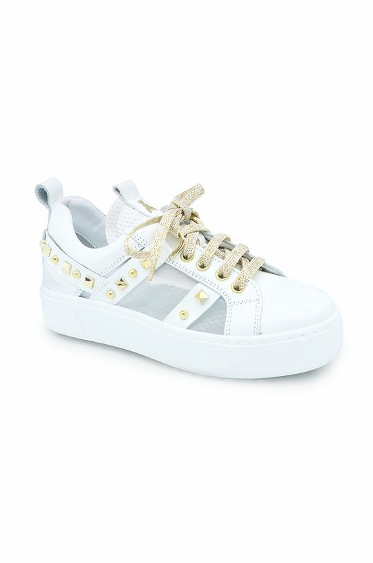 biały Patrizia Pepe - Buty skórzane dziecięce Dziewczęcy