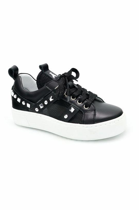 černá Patrizia Pepe - Dětské kožené boty Dívčí