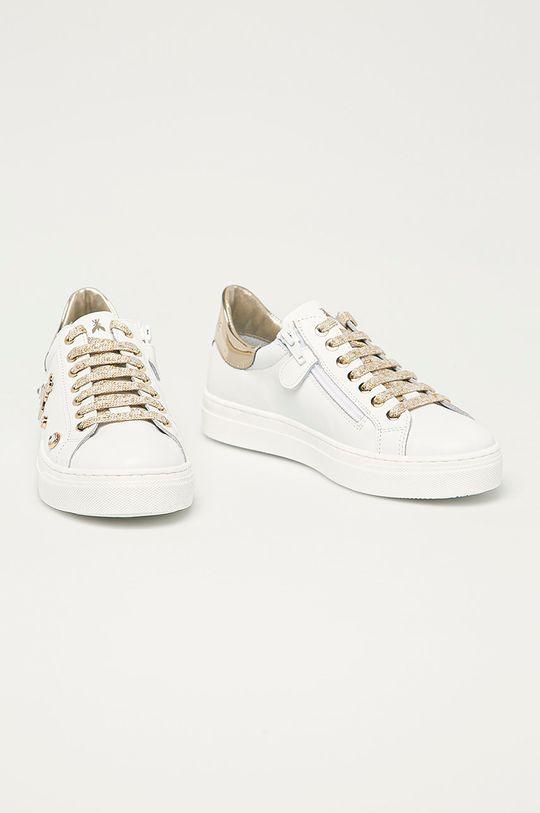 Patrizia Pepe - Dětské kožené boty zlatá