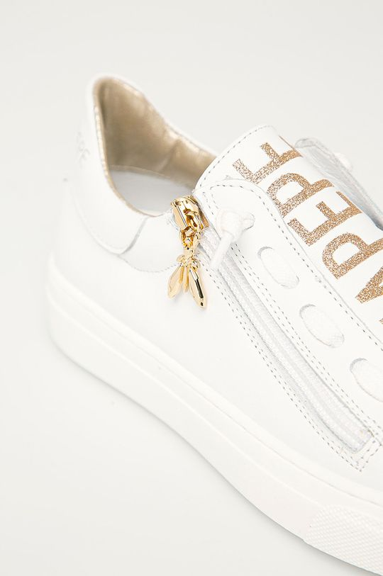 zlatá Patrizia Pepe - Dětské kožené boty