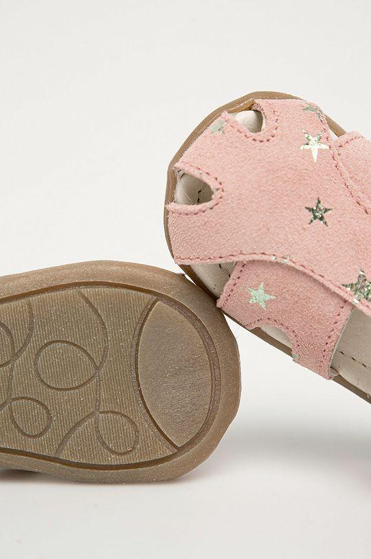 růžová Mrugała - Dětské semišové sandály z narozeninové kolekce