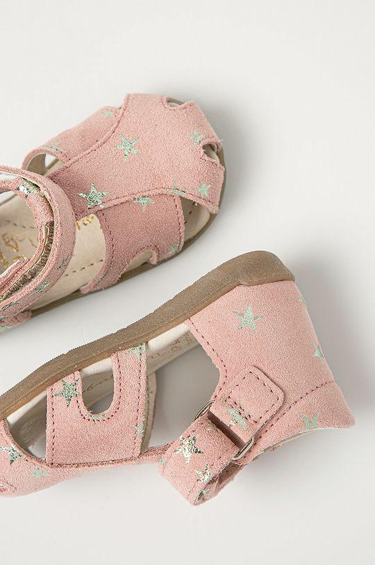Mrugała - Dětské semišové sandály z narozeninové kolekce Dívčí