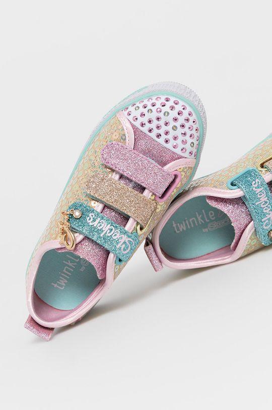 złoty Skechers - Buty dziecięce