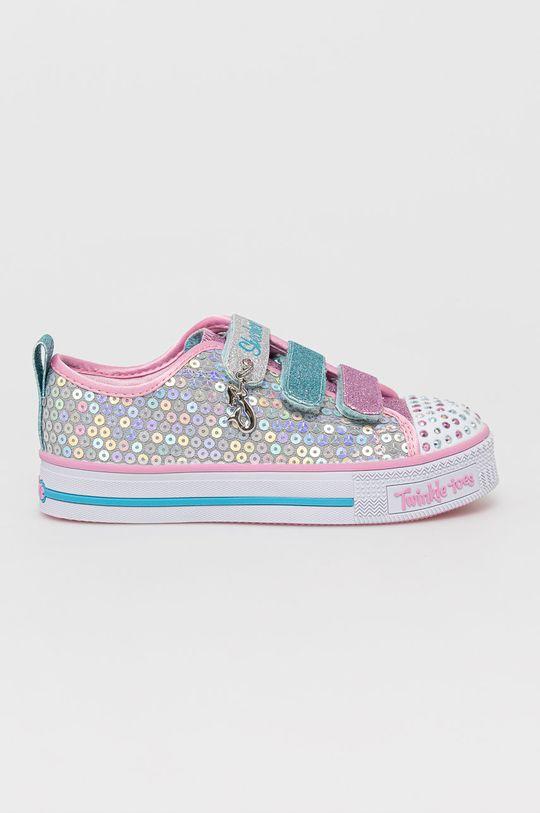 srebrny Skechers - Buty dziecięce Dziewczęcy