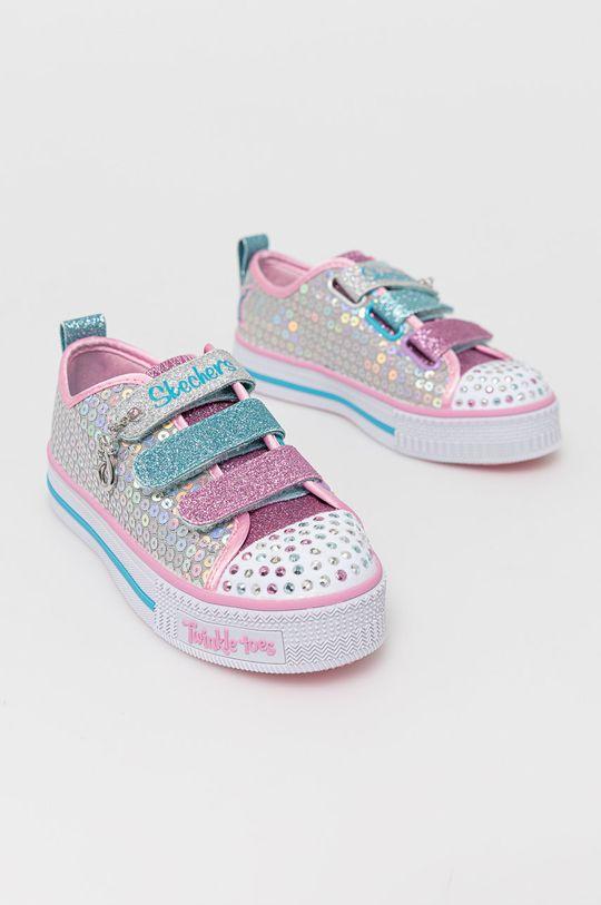 Skechers - Buty dziecięce srebrny