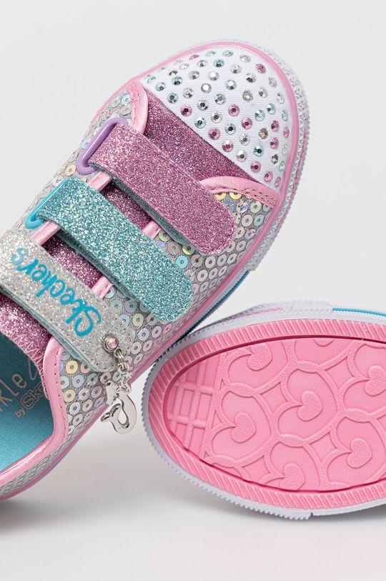 srebrny Skechers - Buty dziecięce