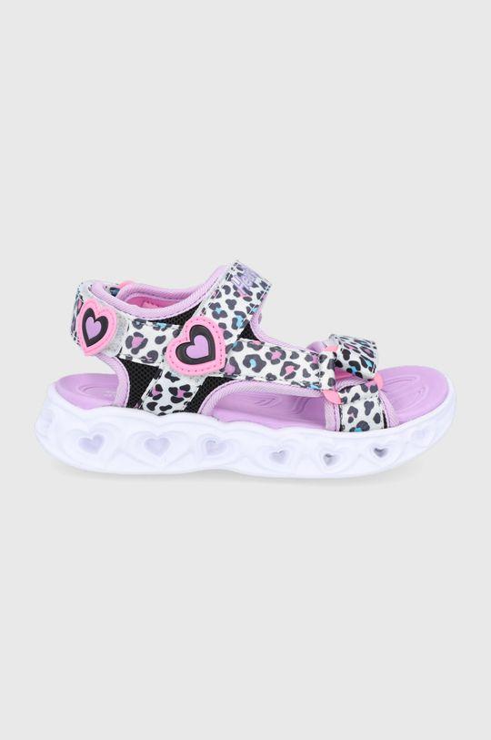 biela Skechers - Detské sandále Dievčenský