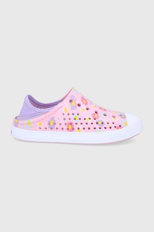 pastelowy różowy Skechers - Tenisówki dziecięce Dziewczęcy