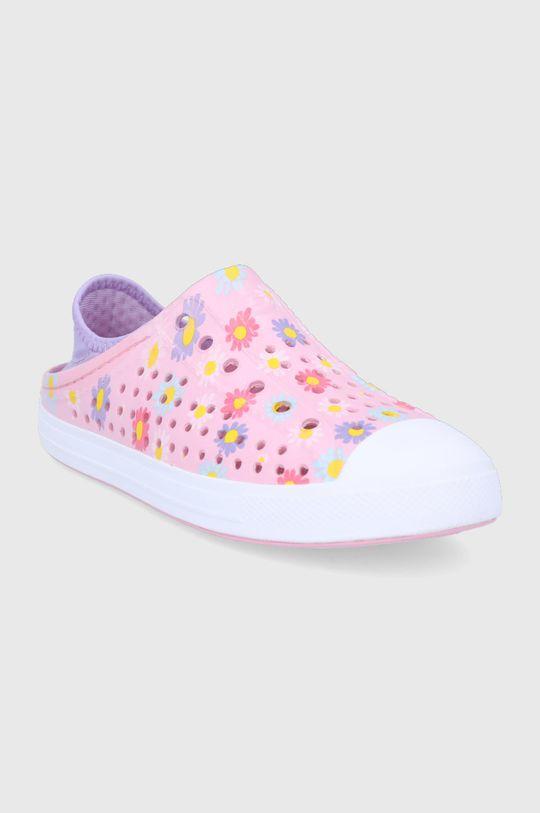 Skechers - Tenisówki dziecięce pastelowy różowy