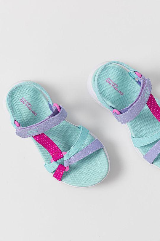 blady turkusowy Skechers - Sandały dziecięce