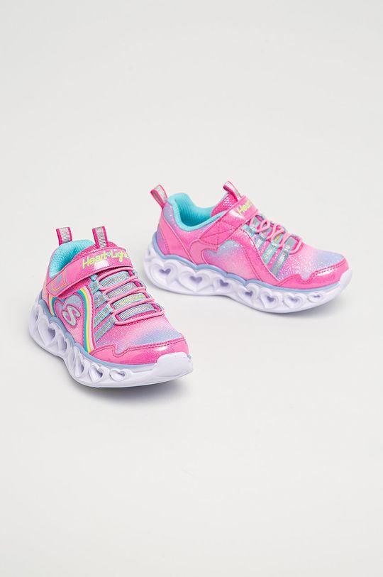 Skechers - Dětské boty růžová