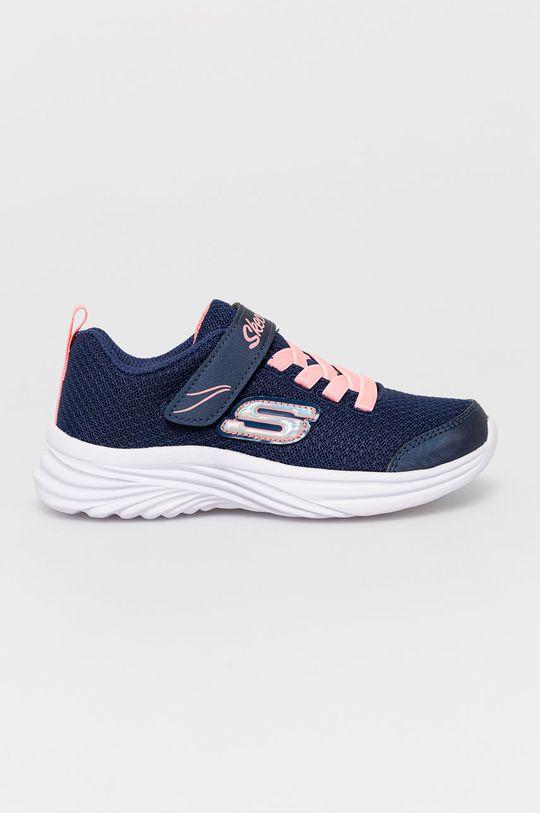námořnická modř Skechers - Dětské boty Dívčí