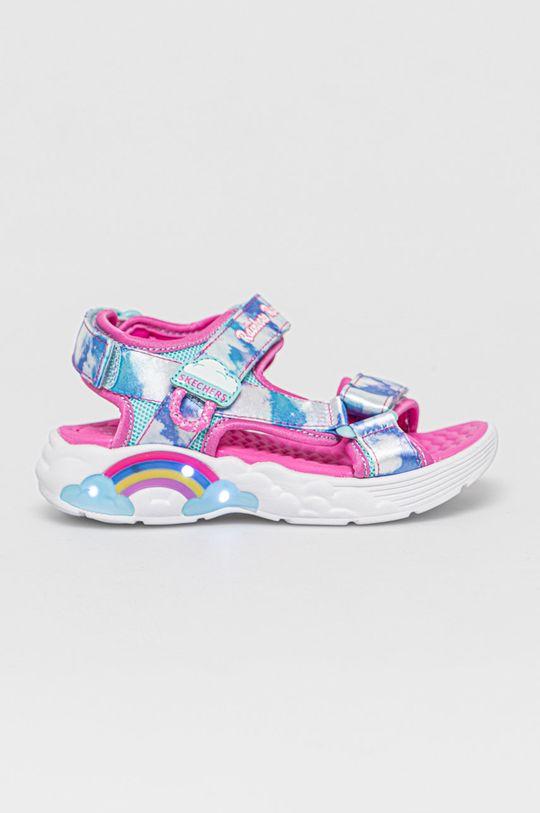 jasny niebieski Skechers - Sandały dziecięce Dziewczęcy
