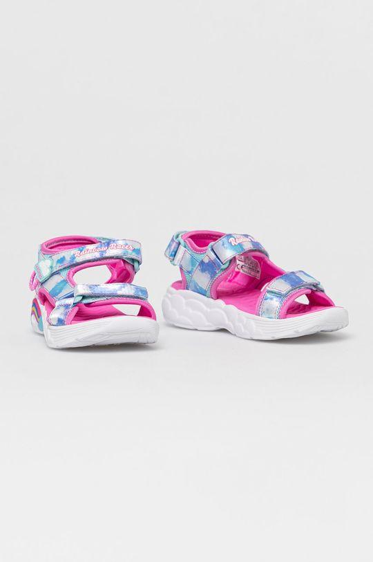 Skechers - Sandały dziecięce jasny niebieski