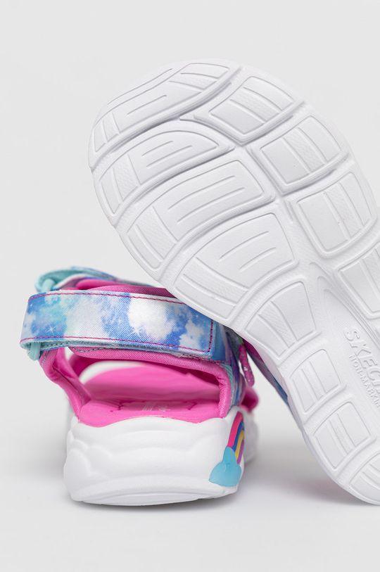 Skechers - Sandały dziecięce Cholewka: Materiał tekstylny, Wnętrze: Materiał syntetyczny, Materiał tekstylny, Podeszwa: Materiał syntetyczny
