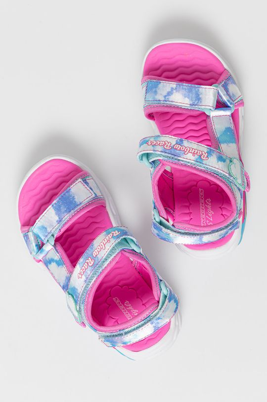 jasny niebieski Skechers - Sandały dziecięce