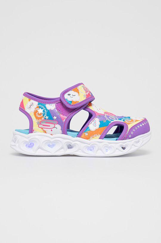 fialová Skechers - Detské sandále Dievčenský