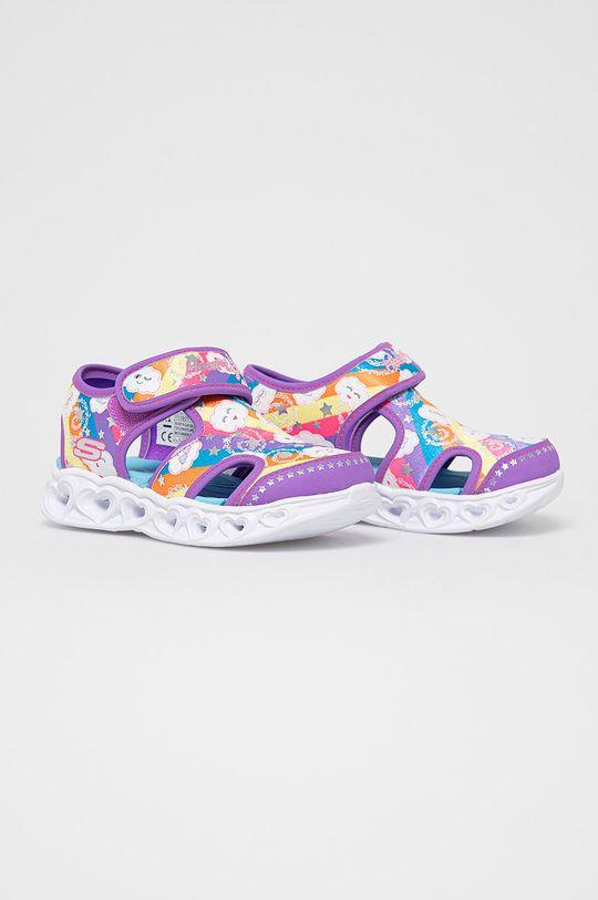 Skechers - Detské sandále fialová