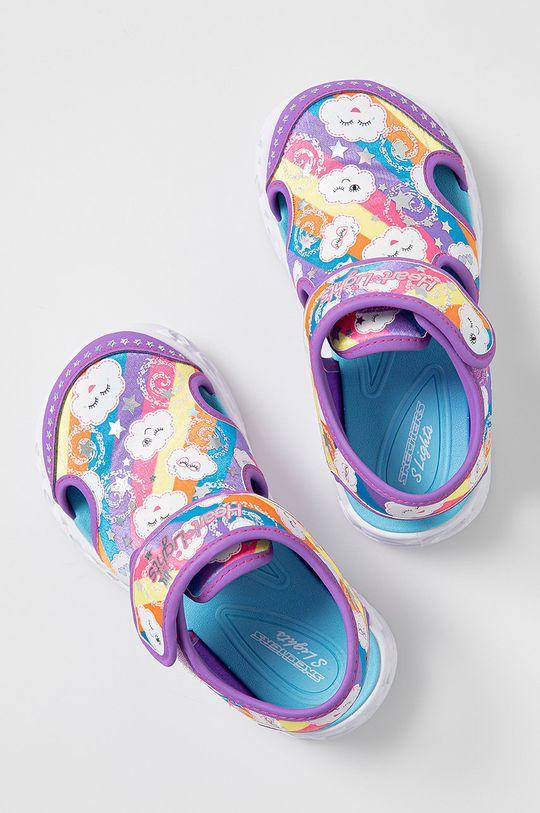 fialová Skechers - Detské sandále