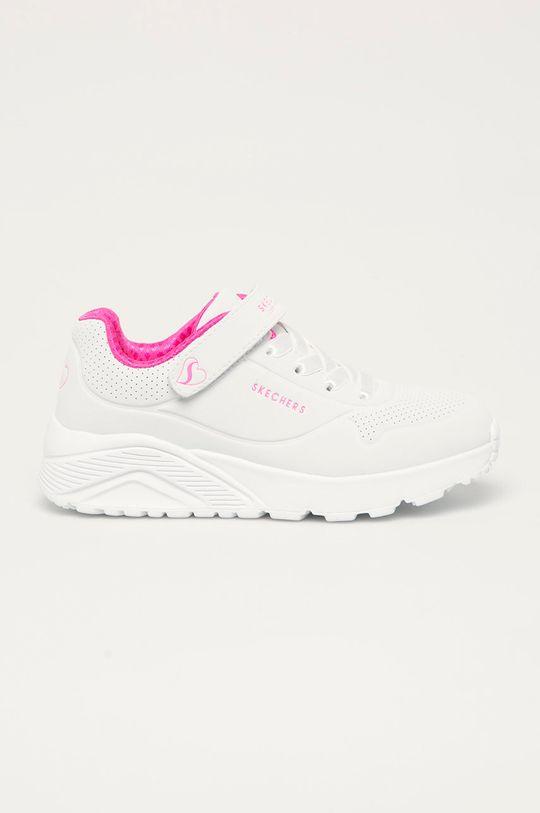 bílá Skechers - Dětské boty Dívčí
