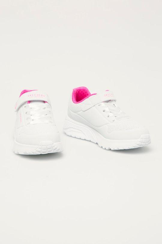 Skechers - Dětské boty bílá